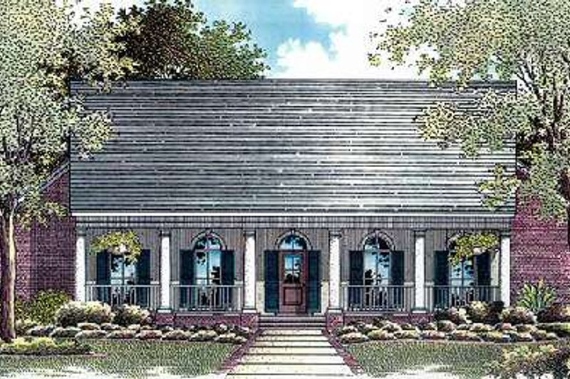 Architectural House Design - Country Exterior - Front Elevation Plan #14-226