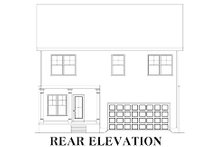 Home Plan - Traditional Exterior - Rear Elevation Plan #419-214