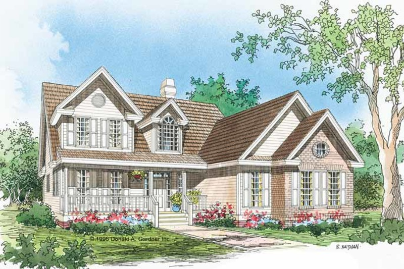 Country Exterior - Front Elevation Plan #929-461 - Houseplans.com