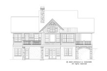 House Plan Design - Craftsman Exterior - Rear Elevation Plan #929-945