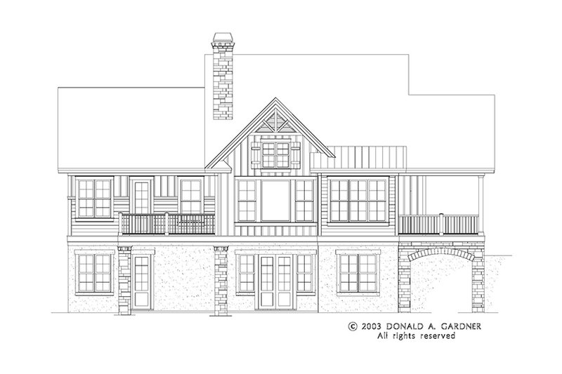 Craftsman Exterior - Rear Elevation Plan #929-945 - Houseplans.com