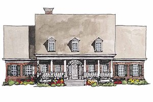 Classical Exterior - Front Elevation Plan #429-181