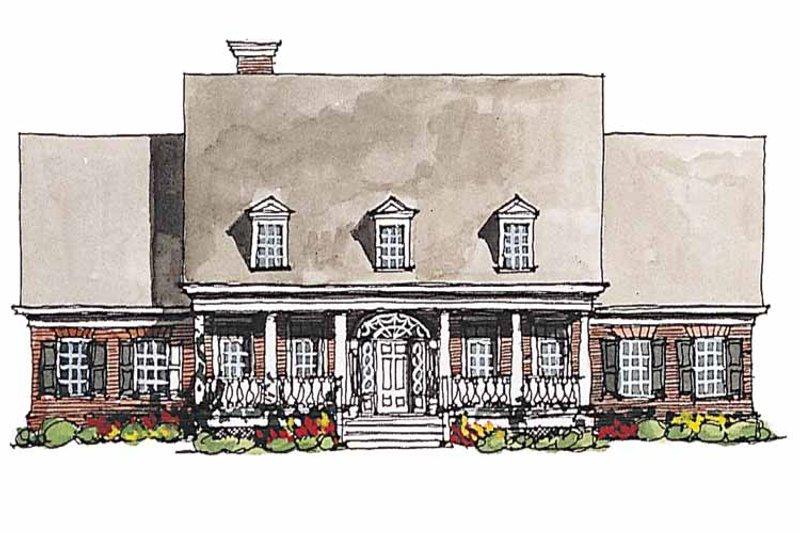 Classical Exterior - Front Elevation Plan #429-181 - Houseplans.com