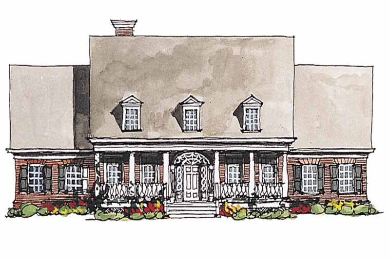 Home Plan - Classical Exterior - Front Elevation Plan #429-181