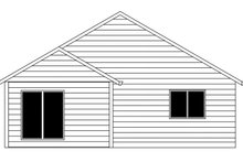 Ranch Exterior - Rear Elevation Plan #943-46