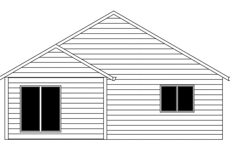 Ranch Exterior - Rear Elevation Plan #943-46 - Houseplans.com