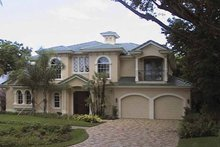 Home Plan - Mediterranean Exterior - Front Elevation Plan #1017-12