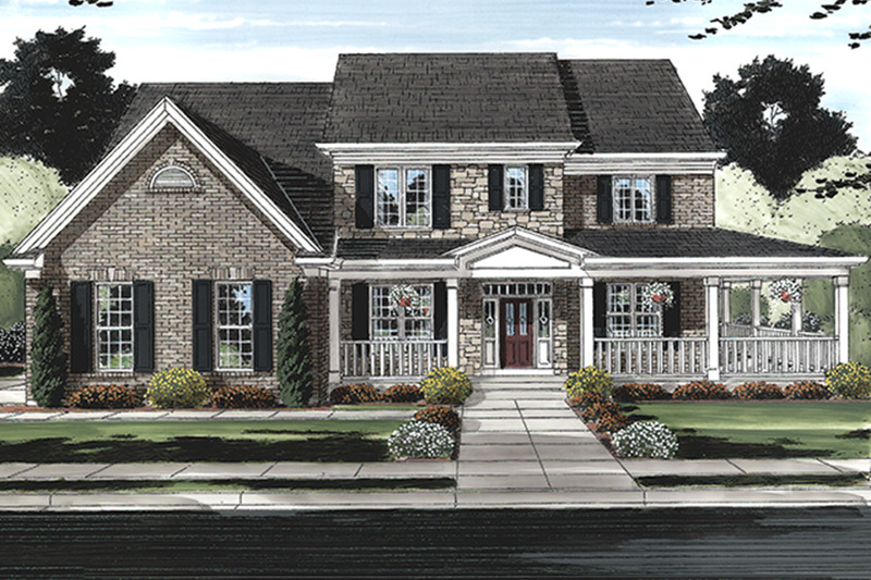 Traditional Exterior - Front Elevation Plan #46-848 - Houseplans.com