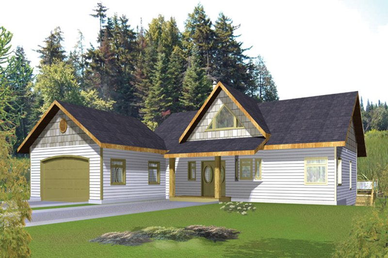 Ranch Exterior - Front Elevation Plan #117-838