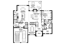 Traditional Floor Plan - Main Floor Plan Plan #46-863