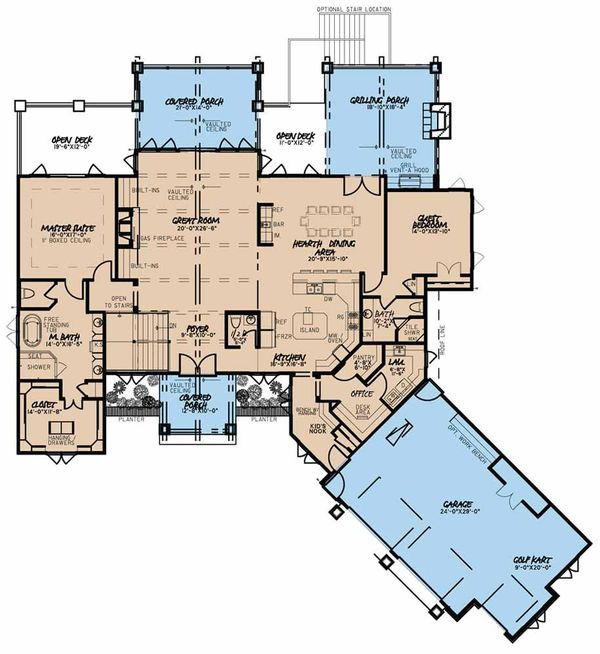 Country Floor Plan - Main Floor Plan Plan #923-43