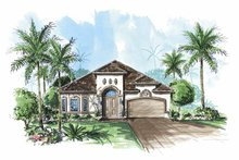 Mediterranean Exterior - Front Elevation Plan #1017-85
