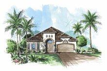 Architectural House Design - Mediterranean Exterior - Front Elevation Plan #1017-85