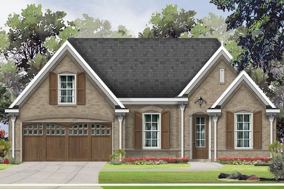 European Exterior - Front Elevation Plan #424-410