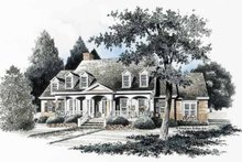Home Plan - Classical Exterior - Front Elevation Plan #429-127