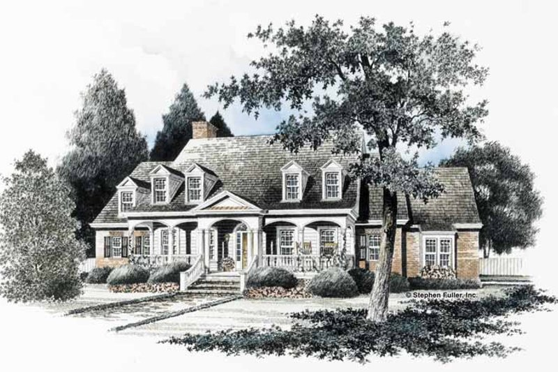 Classical Exterior - Front Elevation Plan #429-127