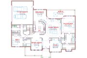 Traditional Style House Plan - 4 Beds 3.5 Baths 3127 Sq/Ft Plan #63-285 Floor Plan - Main Floor Plan