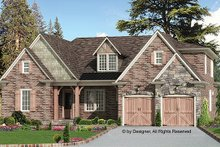 Home Plan - European Exterior - Front Elevation Plan #54-267