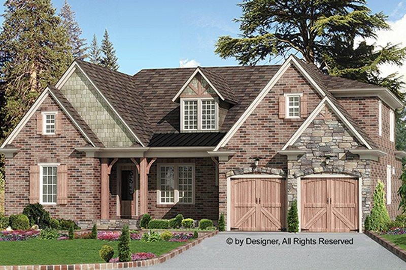 Dream House Plan - European Exterior - Front Elevation Plan #54-267