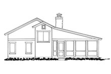 House Plan Design - Cabin Exterior - Other Elevation Plan #942-34