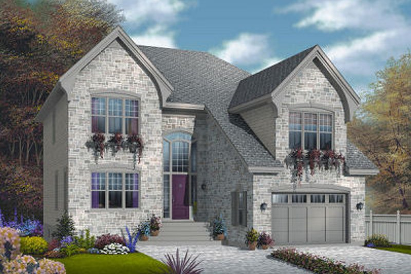 European Exterior - Front Elevation Plan #23-816