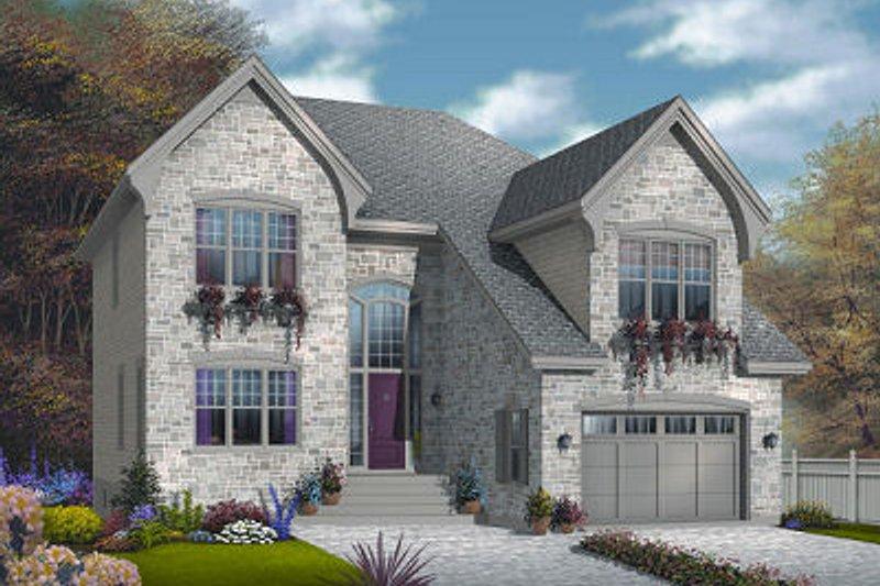 Architectural House Design - European Exterior - Front Elevation Plan #23-816