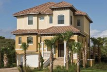 House Plan Design - Mediterranean Exterior - Front Elevation Plan #930-411