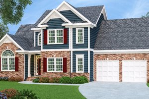 Architectural House Design - Traditional Exterior - Front Elevation Plan #419-115