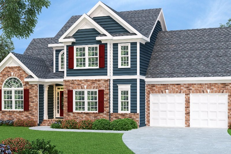 Traditional Exterior - Front Elevation Plan #419-115 - Houseplans.com