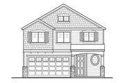 Country Style House Plan - 4 Beds 2.5 Baths 1743 Sq/Ft Plan #569-33 Exterior - Front Elevation