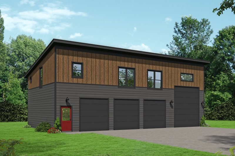Contemporary Style House Plan - 2 Beds 1 Baths 1251 Sq/Ft Plan #932-307 Exterior - Front Elevation