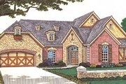 European Style House Plan - 2 Beds 2 Baths 2143 Sq/Ft Plan #310-599 Exterior - Front Elevation