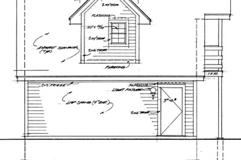 Traditional Exterior - Rear Elevation Plan #72-241 - Houseplans.com