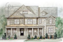 Dream House Plan - Colonial Exterior - Front Elevation Plan #54-138