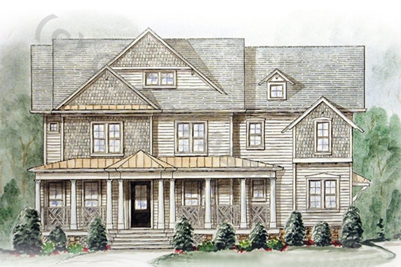 Colonial Exterior - Front Elevation Plan #54-138