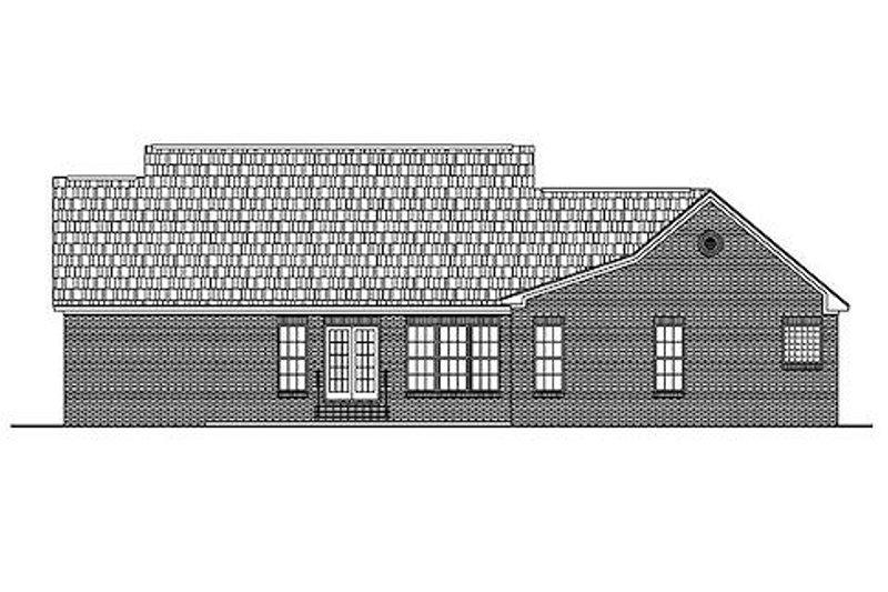 Country Exterior - Rear Elevation Plan #430-18 - Houseplans.com