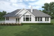 Craftsman Style House Plan - 3 Beds 2 Baths 1913 Sq/Ft Plan #1070-109 Exterior - Rear Elevation