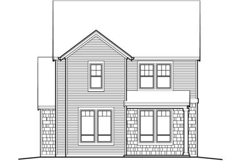 Traditional Exterior - Rear Elevation Plan #48-508 - Houseplans.com
