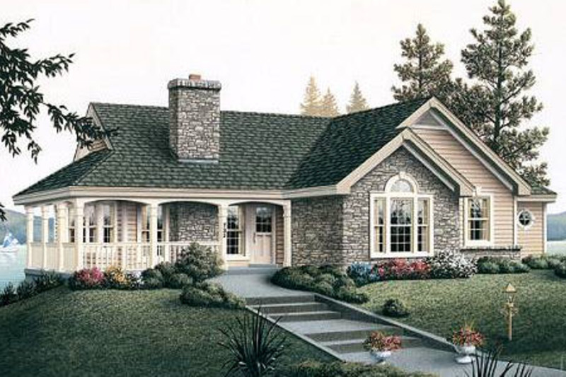 Traditional Exterior - Front Elevation Plan #57-185 - Houseplans.com