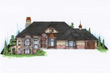 Home Plan - European Exterior - Front Elevation Plan #5-353