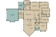 Contemporary Style House Plan - 4 Beds 2.5 Baths 3447 Sq/Ft Plan #923-71 Floor Plan - Main Floor Plan