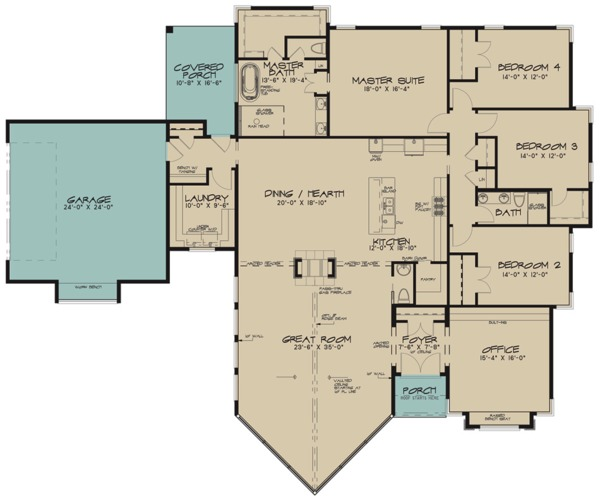 Contemporary Floor Plan - Main Floor Plan Plan #923-71