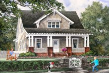 House Plan Design - Front view - 1900 square foot Cottage home