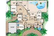European Style House Plan - 4 Beds 4.5 Baths 4354 Sq/Ft Plan #27-421 Floor Plan - Main Floor Plan