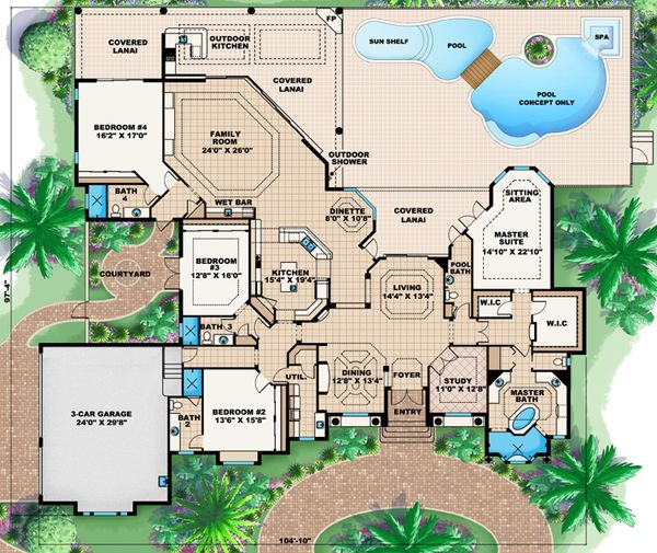 European Floor Plan - Main Floor Plan Plan #27-421