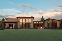 House Plan Design - Modern Exterior - Rear Elevation Plan #1064-93
