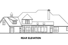 European Exterior - Rear Elevation Plan #52-174