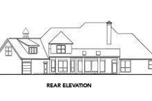 Architectural House Design - European Exterior - Rear Elevation Plan #52-174
