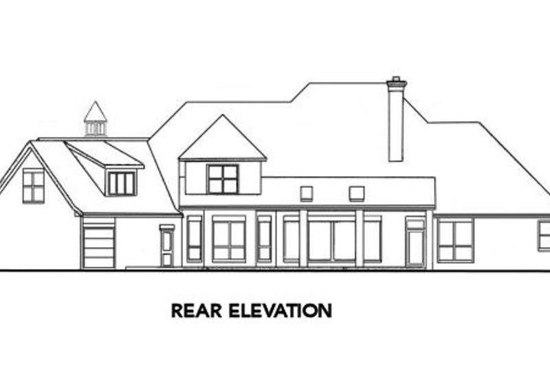 European Exterior - Rear Elevation Plan #52-174 - Houseplans.com