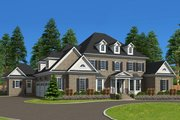 Traditional Style House Plan - 6 Beds 6.5 Baths 6303 Sq/Ft Plan #1054-22 Exterior - Front Elevation